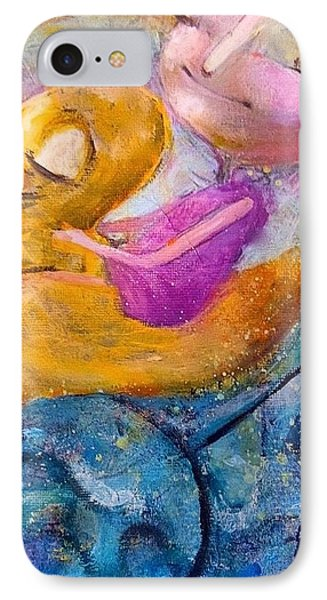 IPhone Case featuring the painting Me And My Duckie by Eleatta Diver