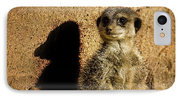 Meerkat iPhone 7 Case - Me And My Shadow by Martin Newman