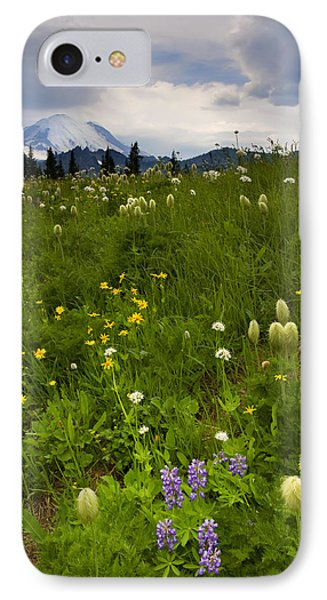 Meadow Beneath The Storm Phone Case by Mike  Dawson