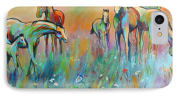 IPhone Case featuring the painting Meadow by Cher Devereaux
