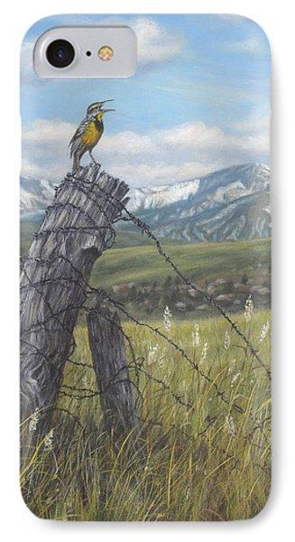 Meadowlark Serenade IPhone Case by Kim Lockman