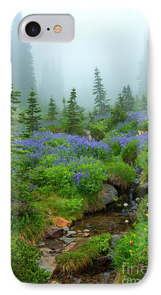 Meadows In The Mist IPhone Case by Mike Dawson