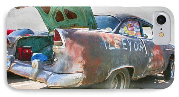 IPhone Case featuring the painting Mean Streets by Michael Cleere
