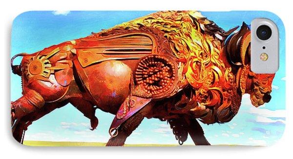 Mechanical Bull IPhone Case by Leonardo Digenio
