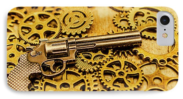 Mechanisms Of The Wild West  IPhone Case by Jorgo Photography - Wall Art Gallery