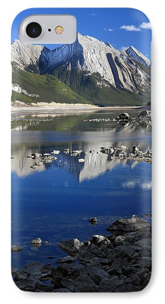 Medecine Lake Jasper National Park Alberta Canada Phone Case by Pierre Leclerc Photography