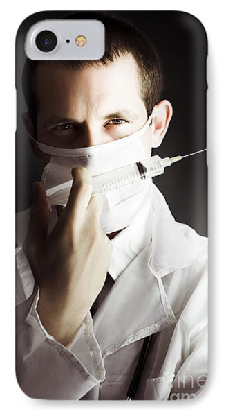 Medical Surgeon With Prescribed Medicine Injection IPhone Case by Jorgo Photography - Wall Art Gallery