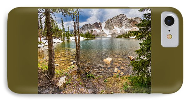 Medicine Bow Snowy Mountain Range Lake View IPhone Case by James BO  Insogna