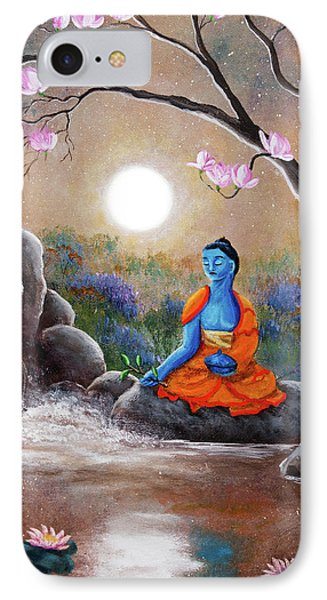 Medicine Buddha By A Waterfall IPhone Case