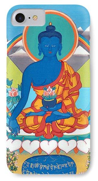 Medicine Buddha Or Bhaishajyaguru IPhone Case by Berty Sieverding