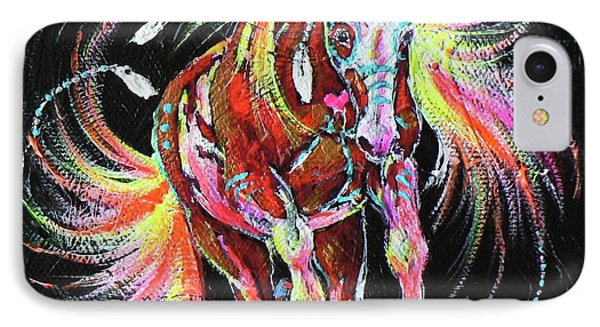 Medicine Fire Pony Phone Case by Louise Green