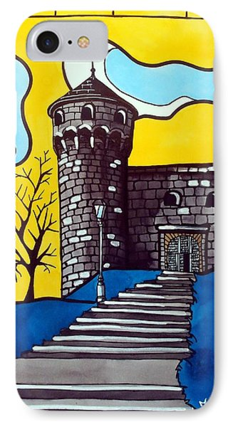 IPhone Case featuring the painting Medieval Bastion -  Mace Tower Of Buda Castle Hungary By Dora Hathazi Mendes by Dora Hathazi Mendes