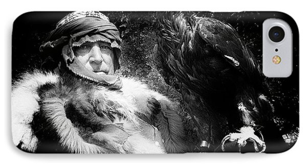 IPhone Case featuring the photograph Medieval Fair Barbarian And Golden Eagle by Bob Christopher