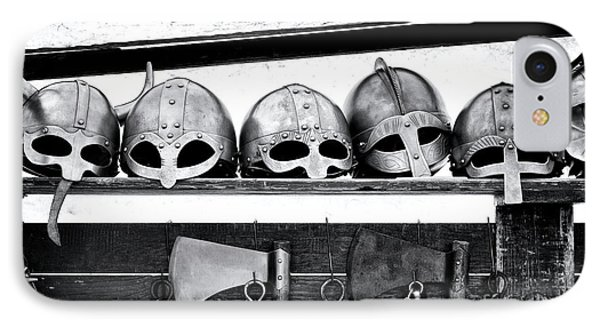 Medieval Helmets IPhone Case by Tim Gainey