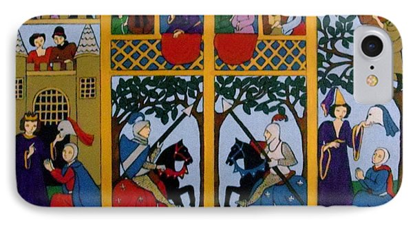 IPhone Case featuring the painting Medieval Scene by Stephanie Moore