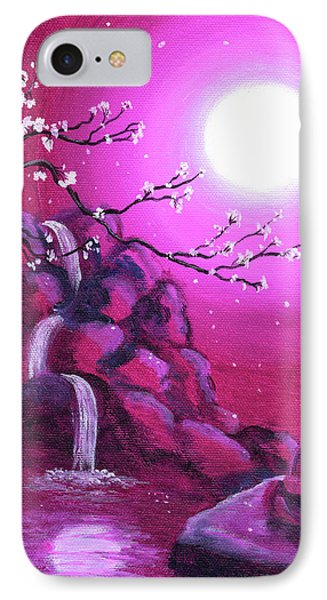 Meditating While Cherry Blossoms Fall IPhone Case by Laura Iverson