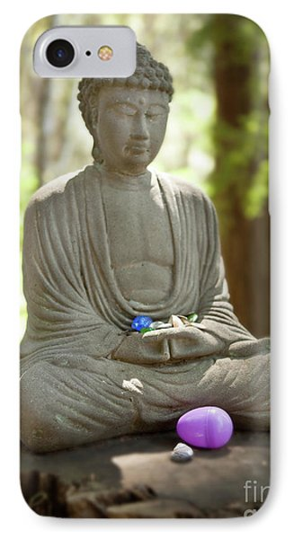 IPhone Case featuring the photograph Meditation Buddha With Offerings by Carol Lynn Coronios