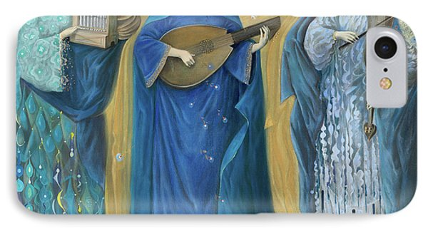 Meditations On The Holy Trinity  After The Music Of Olivier Messiaen, IPhone Case by Annael Anelia Pavlova