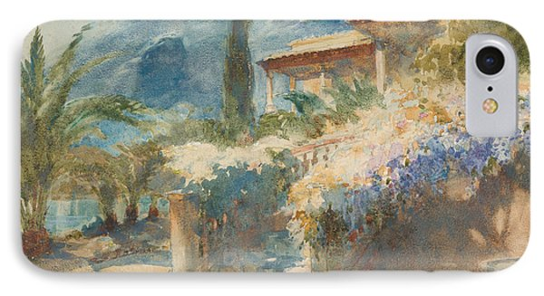 Mediterranean Garden Scene IPhone Case by Celestial Images