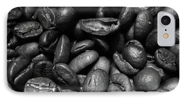 Medium Roast In Black And White IPhone Case by Mary Ellen Frazee