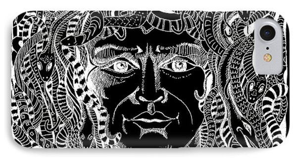 Medusa Design Phone Case by John Keaton