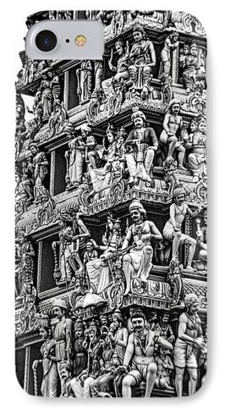 Meenakshi Amman Temple Bw IPhone Case
