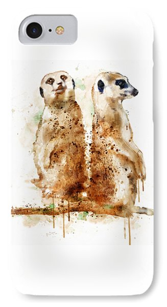 Meerkat iPhone 7 Case - Meerkats by Marian Voicu