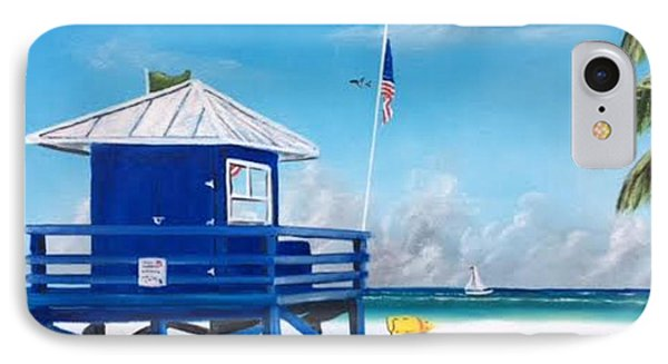 Meet At Blue Lifeguard IPhone Case by Lloyd Dobson
