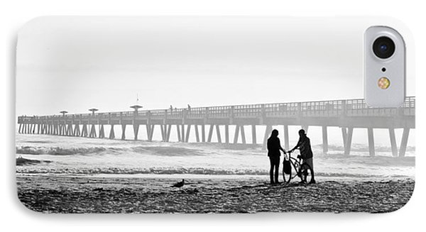 IPhone Case featuring the photograph Meet At The Pier by Phyllis Peterson