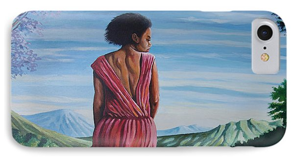 IPhone Case featuring the painting Meet Me At The River by Anthony Mwangi