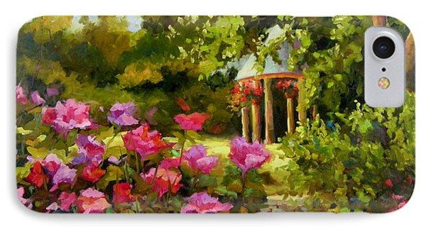 Meet Me In The Garden IPhone Case by Chris Brandley