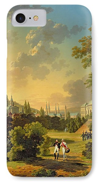 Meeting Between Napoleon I And Ferdinand IIi IPhone Case by Hippolyte Lecomte