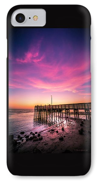 Meeting On The Pier IPhone Case by Marvin Spates