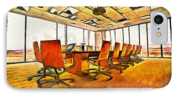 Meeting Room - Pa IPhone Case by Leonardo Digenio