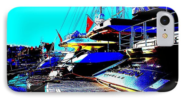 IPhone Case featuring the photograph Mega Yachts by Rogerio Mariani