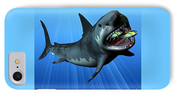 Megalodon Phone Case by Corey Ford