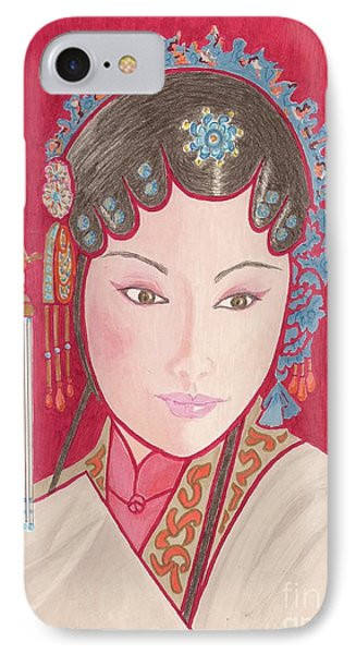 Mei Ling -- Portrait Of Woman From Chinese Opera IPhone Case