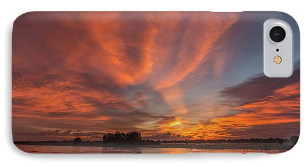 IPhone Case featuring the photograph Mekong Sunset 3 by Werner Padarin