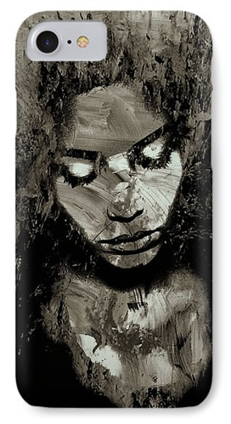 Melancholy And The Infinite Sadness Black And White IPhone Case by Marian Voicu