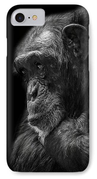 Chimpanzee iPhone 7 Case - Melancholy by Paul Neville