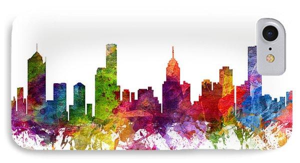 Melbourne Australia Cityscape 06 IPhone Case by Aged Pixel