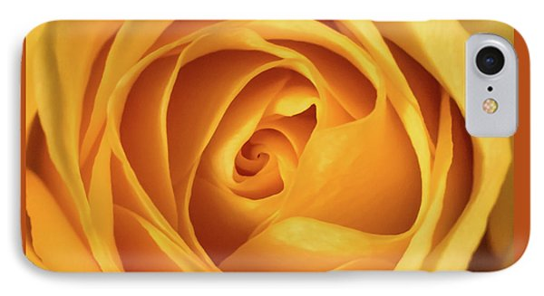 IPhone Case featuring the photograph Mellow Yellow Rose Square by Terry DeLuco