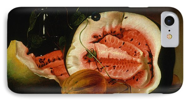 Melons And Morning Glories  IPhone 7 Case by Raphaelle Peale
