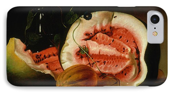 Melons And Morning Glories  IPhone Case by Raphaelle Peale