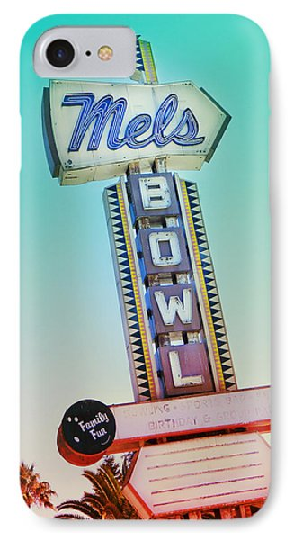 Mels Bowl Retro Sign IPhone Case by Kathleen Grace
