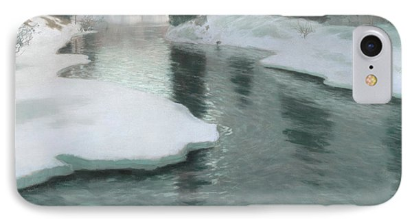 Melting Snow IPhone Case by Fritz Thaulow