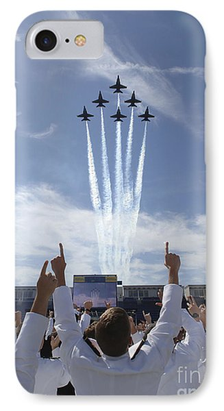 Members Of The U.s. Naval Academy Cheer IPhone Case by Stocktrek Images