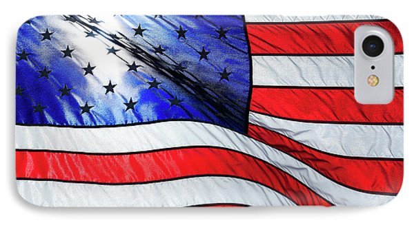 Memorial Day Flag IPhone Case by Todd Klassy