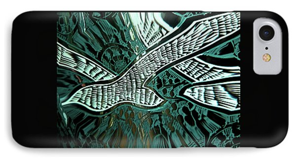 IPhone Case featuring the digital art Memorial Swallows by Lenore Senior
