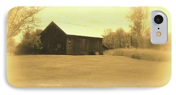 Memories Of Long Ago - Barn IPhone Case by Susan Lafleur